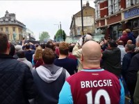 English Football Hooligans – West Ham United Fans Smashing Up The Manchester United Team Coach/Bus