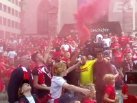 Incredible atmosphere hours before the final in Basel between Liverpool FC and Sevilla!