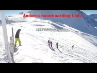 Snowboarding fails Andorra 2015 – Lesson for my buddy!