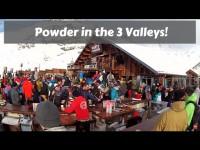 Snowboarding in 3 Valleys, Val Thorens, Les Menuries. Powder Dump! GoPro 4 Silver