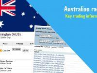 Betfair trading | Australian racing | Key trading information