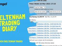 Betfair trading diary | Cheltenham 2021